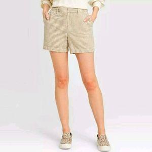 "High Rise Summer Chino Shorts 5"" Inseam Size 2."
